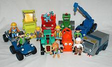 Bob the Builder Bundle of Vehicles & Figures inc Muck Skip Bristle Roley Dizzy