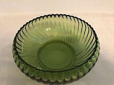 Avocado Green Spiral Glass Bowl