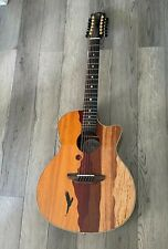 Luna Vista Eagle 12 String  Tropical Wood Acoustic Electric Guitar w/Hard Case