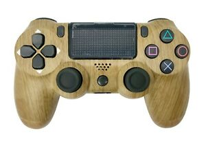PS4 Controller with Custom Wood Design - New in Box