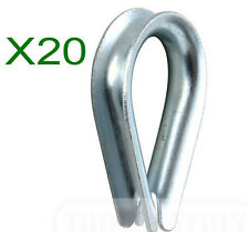 3mm Galvanised Wire Rope Thimbles (20pcs)