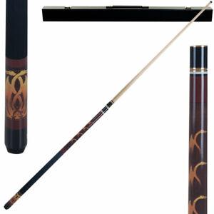 "FANTASY DRAGON 20 oz Pool Cue, 58"" Two Piece Hardwood Stick with Case, Billiards"