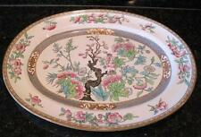 """Antique Indian Tree Large Oval Platter 17.5"""" Minton China 5185 1876"""