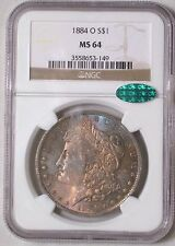 1884-O Morgan SiIver Dollar MS-64 Toned CAC Certified