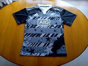New Zealand Rugby Shirt Medium Size M Training Top  2014 2015 Adidas
