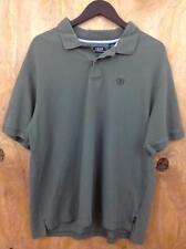 Izod Silk Wash Cotton Mens Green Collar Polo Shirt 2XL (34A18)