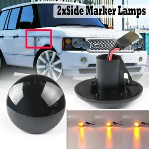 For Land Rover Range Rover L322 2003-2012 Smoked LED Side Marker Lamp 2PCS