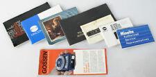 Assorted Lit. Manuals- Gossen, Minolta, Polaroid