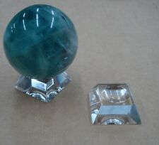 Clear Glass Stand For Gemstone Spheres Amethyst Selenite Fluorite Glass Stand.