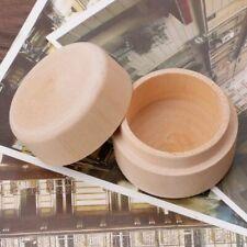 Round Wooden Storage Box Ring Case Decorative Natural Jewelry Box Craft Gift Box