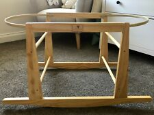 Moses Basket Bassinet Rocking Stand - Timber As new