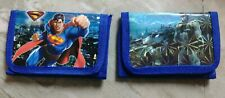 Childrens wallet Superman & The Dark Knight lot of 2 see photos Brand New