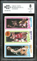 1980-81 Topps #6 Larry Bird /Erving / Magic Johnson Rookie BGS BCCG 8 Excellent+