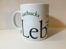 2002 STARBUCKS Ceramic Large City Mug Collector's Series LEBANON EUC!