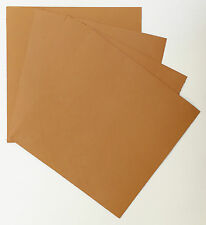 VEG-TAN LEATHER PIECES OF SHEEPSKIN, CRAFT PACK 4 @ 15CM X 15CM LONDON TAN, 1 mm