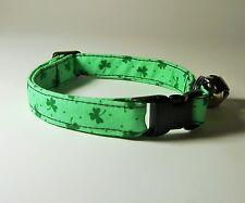 Wet Nose Designs Wee Shamrock Cat Collar Shamrocks St Patricks Day Irish Green