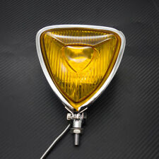 Motorcycle Chrome Triangle Headlight Lamp Flat Back For Harley Chopper Bobber