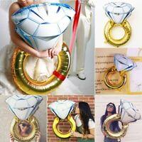 Diamond Ring Foil Balloon Engagement Wedding Gold Love Hen Party Helium Decor