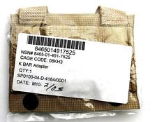 MOLLE II K Bar Knife Vest Adapter Tan US Army Military x2 NSN# 8465-01-491-7525