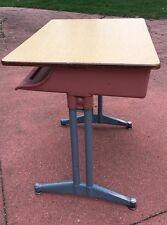 school desk industrial vintage metal mid