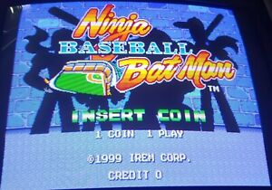 NINJA BASEBALL BATMAN PCB Jamma Video Arcade Game IREM 1999