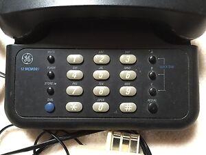 Téléphone noir à fil 3 mémoires direct,12 mémoires