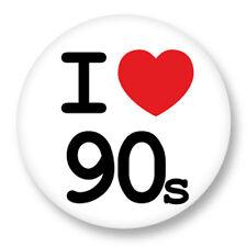 "Pin Button Badge Ø25mm 1"" ♥ I Love You j'aime Ti amo te amo Heart Coeur 90s"