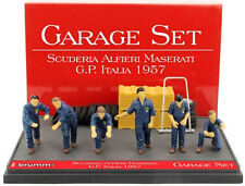Brumm Gs03 1/43 Scale Maserati Italian GP 1957 Model Garage Set