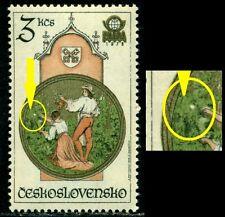 Czechoslovakia 1978 Prague Astronomical Clock,Stamp Exhibition,Mi.2454,MNH,ERROR