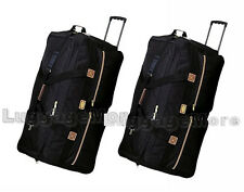 """Pack of 2, 36"""" Rolling Duffel Bags Wheeled Luggage Suitcases Travel Duffle Bags"""