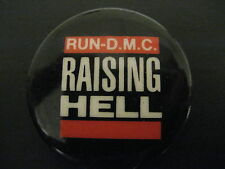 Run D.M.C.-DMC-Raising Hell-Hip Hop Large-Button-80's Vintage-Rare