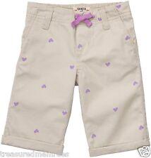Oshkosh B'gosh Capri Shorts With Allover Purple Hearts Print ~ Size 24 Months