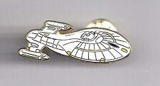 "Star Trek Voyager Ship 1¾"" Cloisonné Pin- UNUSED- FREE S&H (STPI-VOYSHIP)"