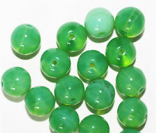 Apple Green Round Czech Pressed Glass Beads 10mm (pack of 16)