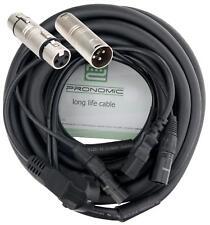 Cable Hybrido Conectores DMX XLR Alimentacion DJ PA Escenario Studio 10m Negro