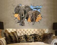 Africa Elephant 3d Image Home Decor Removable Wall Stickers Decal Decoration