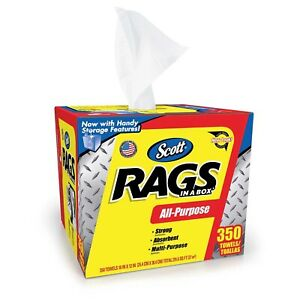 Scott Shop Rags In a Box (350 sheets) FREE SHIPPING