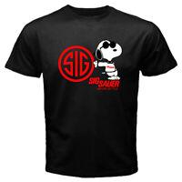 SIG Sauer T Shirt Academy firearms Never Settle 100% Cotton Men's TShirt S - 2XL
