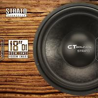 "CT Sounds Strato 18"" D1 800 Watt RMS 18 Inch Dual 1 Ohm Car Subwoofer Audio Sub"