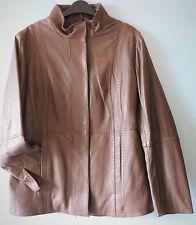 Zip Hip Length Leather Blazer Coats & Jackets for Women