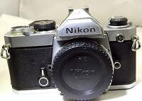 Nikon FM 35mm SLR Film Camera Body Only            ---         Free shipping USA