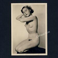 #456 RÖSSLER AKTFOTO / NUDE WOMAN STUDY * Vintage 1950s Studio Photo - no PC !