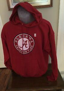 Alabama Crimson Tide Hanes Red Fleece Sweatshirt Hoodie Size Large NWOT
