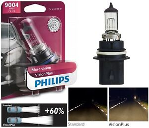Philips VIsion Plus 60% 9004 HB1 65/45W One Bulb Head Light Dual Beam Replace OE