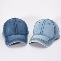 Men Women Peaked Hat Hip-Hop Curved Strapback Snapback Baseball Cap Adjustable
