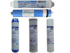 Five Filter Set  (GAC, CTO, 50 GPD, T33, 5 Micron Sediment Filter) Water Filters