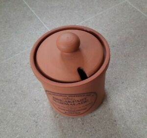 Henry Watson Pottery Terracotta Breakfast Marmalade Pot VGC