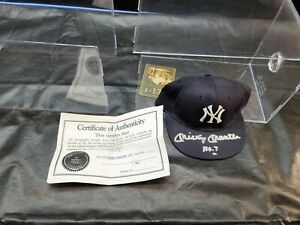 Mickey Mantle #7 Signed Autograph NY Yankee Hat