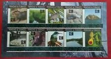Trinidad & Tobago 2019 $2 Overprint Environment Sheet Mint UNC Set of 10 stamps