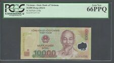 Viet Nam 10000 Dong 2014 P119h Uncirculated Graded 66